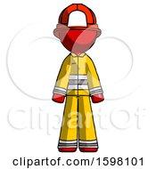 Red Firefighter Fireman Man Standing Facing Forward