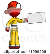 Red Firefighter Fireman Man Holding Large Envelope