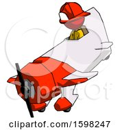 Red Firefighter Fireman Man In Geebee Stunt Plane Descending View