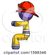 Purple Firefighter Fireman Man Sitting Or Driving Position