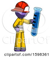 Purple Firefighter Fireman Man Holding Large Test Tube