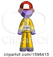Purple Firefighter Fireman Man Standing Facing Forward