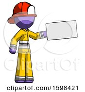 Purple Firefighter Fireman Man Holding Large Envelope