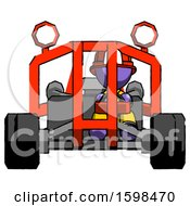Purple Firefighter Fireman Man Riding Sports Buggy Front View