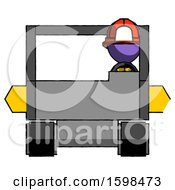 Purple Firefighter Fireman Man Driving Amphibious Tracked Vehicle Front View