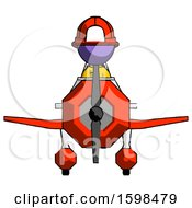 Purple Firefighter Fireman Man In Geebee Stunt Plane Front View