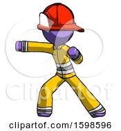 Purple Firefighter Fireman Man Martial Arts Punch Left