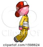 Pink Firefighter Fireman Man Floating Through Air Right