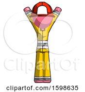 Pink Firefighter Fireman Man Hands Up
