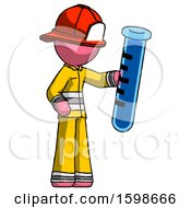 Pink Firefighter Fireman Man Holding Large Test Tube