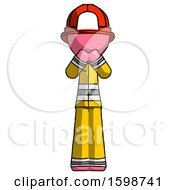 Pink Firefighter Fireman Man Laugh Giggle Or Gasp Pose