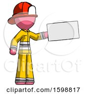 Pink Firefighter Fireman Man Holding Large Envelope