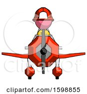 Pink Firefighter Fireman Man In Geebee Stunt Plane Front View