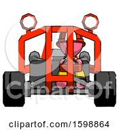 Pink Firefighter Fireman Man Riding Sports Buggy Front View