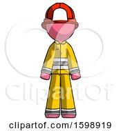 Pink Firefighter Fireman Man Standing Facing Forward