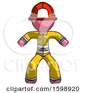 Pink Firefighter Fireman Male Sumo Wrestling Power Pose