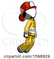 Ink Firefighter Fireman Man Floating Through Air Right