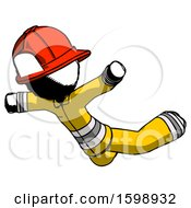 Ink Firefighter Fireman Man Skydiving Or Falling To Death