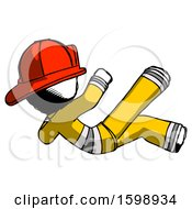 Ink Firefighter Fireman Man Falling Backwards