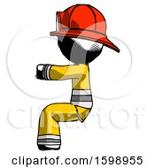 Ink Firefighter Fireman Man Sitting Or Driving Position