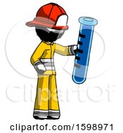 Ink Firefighter Fireman Man Holding Large Test Tube