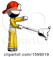 Ink Firefighter Fireman Man Holding Jesterstaff I Dub Thee Foolish Concept