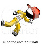 Ink Firefighter Fireman Man Running While Falling Down