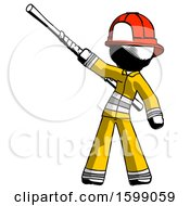 Ink Firefighter Fireman Man Bo Staff Pointing Up Pose