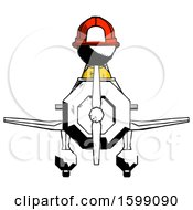 Ink Firefighter Fireman Man In Geebee Stunt Plane Front View