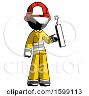 Ink Firefighter Fireman Man Holding Dynamite With Fuse Lit
