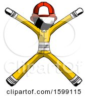 Ink Firefighter Fireman Man With Arms And Legs Stretched Out