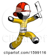 Ink Firefighter Fireman Man Psycho Running With Meat Cleaver