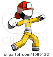 Ink Firefighter Fireman Man Throwing Football