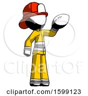 Ink Firefighter Fireman Man Holding Football Up