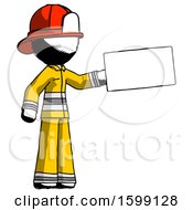 Ink Firefighter Fireman Man Holding Large Envelope