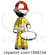 Poster, Art Print Of Ink Firefighter Fireman Man Frying Egg In Pan Or Wok