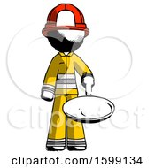 Ink Firefighter Fireman Man Frying Egg In Pan Or Wok