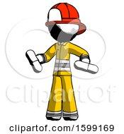 Ink Firefighter Fireman Man Red Pill Or Blue Pill Concept