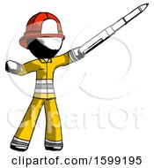 Ink Firefighter Fireman Man Demonstrating That Indeed The Pen Is Mightier