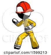 Ink Firefighter Fireman Man Martial Arts Defense Pose Left