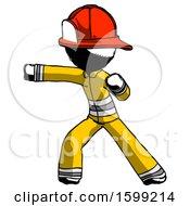 Ink Firefighter Fireman Man Martial Arts Punch Left