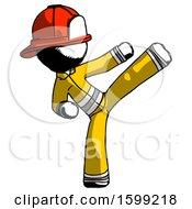 Ink Firefighter Fireman Man Ninja Kick Right