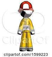 Ink Firefighter Fireman Man Standing Facing Forward