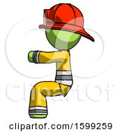 Green Firefighter Fireman Man Sitting Or Driving Position
