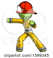 Green Firefighter Fireman Man Martial Arts Punch Left