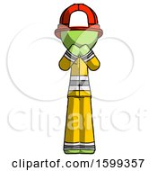 Green Firefighter Fireman Man Laugh Giggle Or Gasp Pose