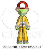 Green Firefighter Fireman Man Standing Facing Forward