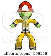 Poster, Art Print Of Green Firefighter Fireman Male Sumo Wrestling Power Pose