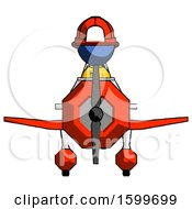 Blue Firefighter Fireman Man In Geebee Stunt Plane Front View