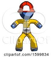 Blue Firefighter Fireman Male Sumo Wrestling Power Pose